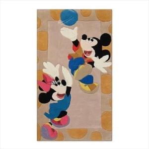 Χειροποίητο Χαλί Disney Mickey & Minnie Playing (80x140cm) DH021A
