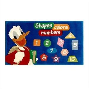 Χειροποίητο Χαλί Disney Donald Duck Shapes Colours Numbers (80x140cm) DH016A