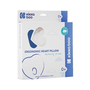 Μαξιλάρι Memory Foam Ergonomic Pillow Kikkaboo Heart Beige Velvet