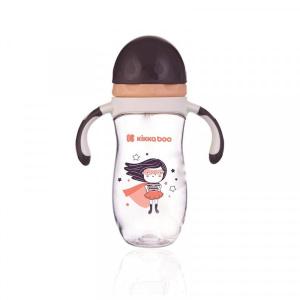 Κύπελλο με Καλαμάκι Tritan Sippy cup with a straw 300ml Kikkaboo Supergirl