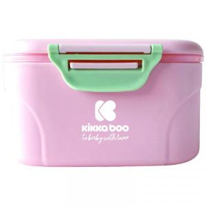 Δοχείο Αποθήκευσης Σκόνης Γάλακτος με Κουτάλι 130g Pink Kikkaboo