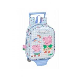 Σχολική Tσάντα με Τρόλεϊ Peppa Pig Safta